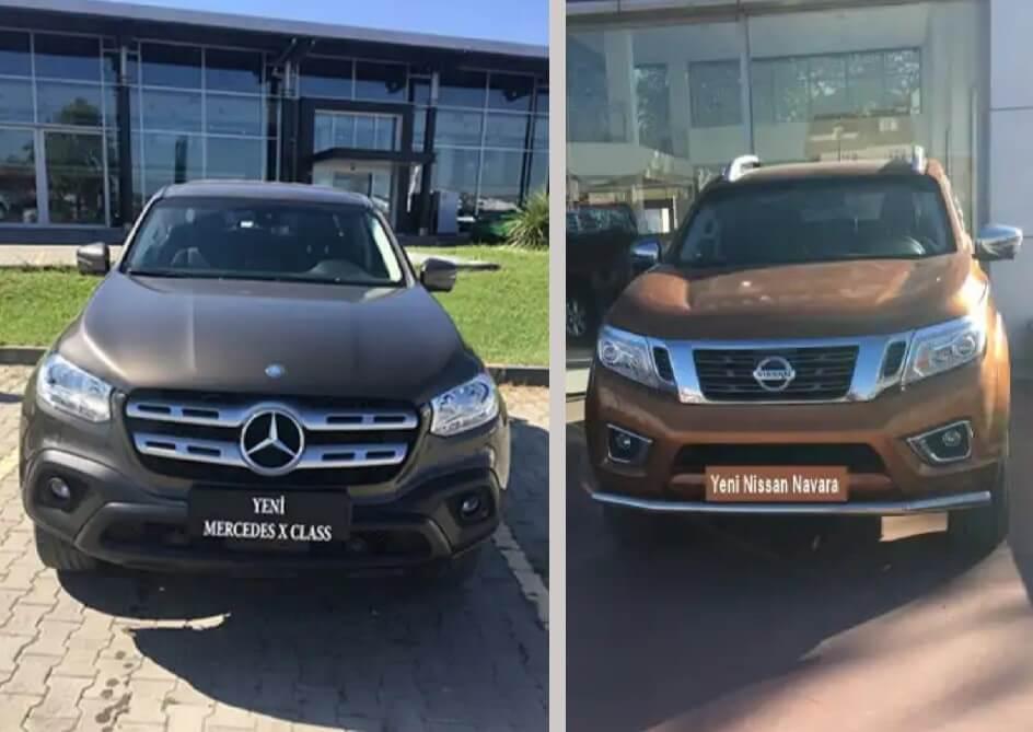 Yeni Nissan Navara ve Yeni Mercedes X Class, karşılaştırma,otomobil,SUV, pickup
